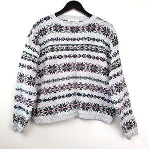 Eddie Bauer • Cozy Vintage Cropped Sweater Large